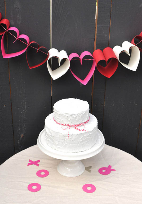 Beautiful Paper heart garland!