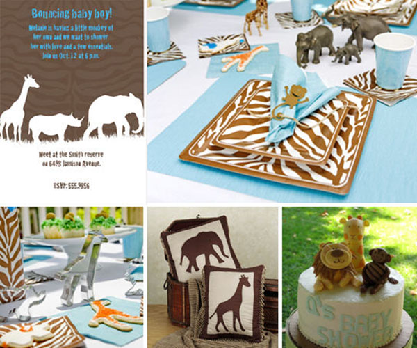 look at all the lovely safari decoration and table ideas you can do