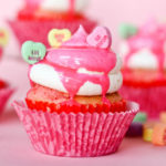 Conversation heart cupcakes!