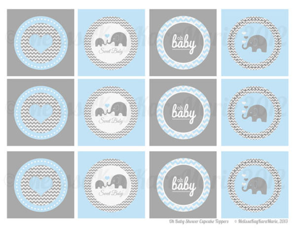 Cute boys safari baby shower printables