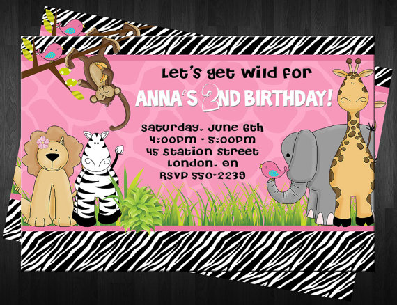 Love this Girls Safari Birthday Invitation