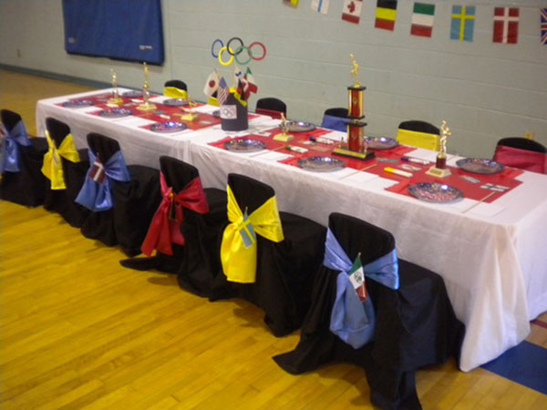 Olympic Party guest table