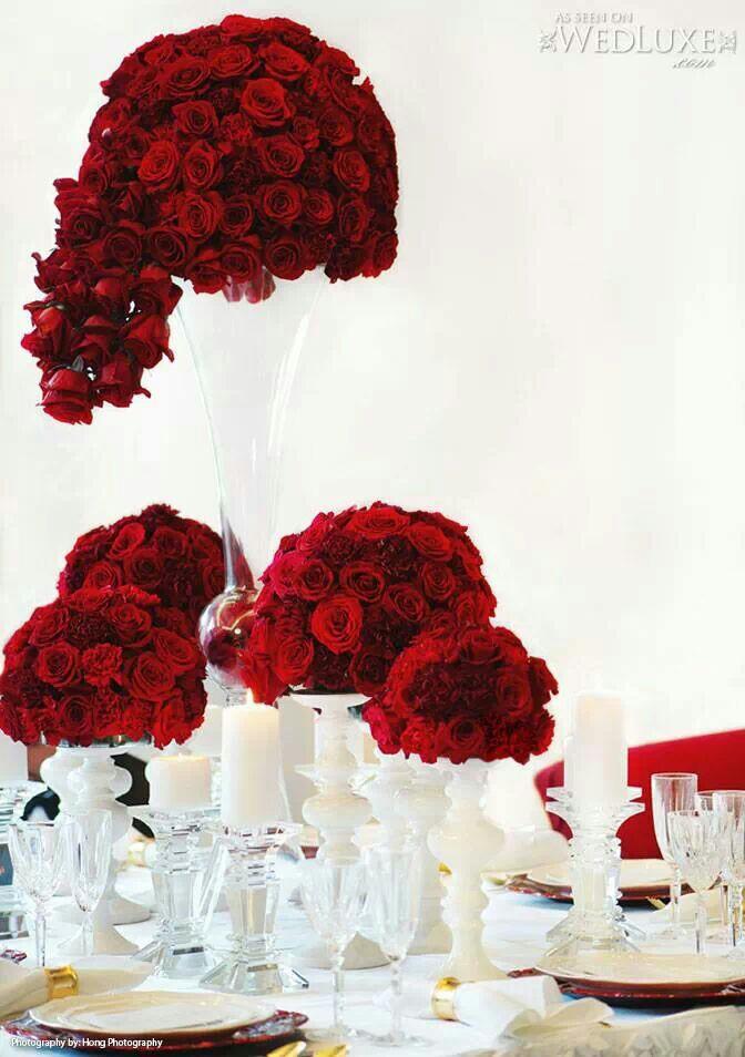 Inspiring Beautiful Red Rose Centerpieces! - photo#32