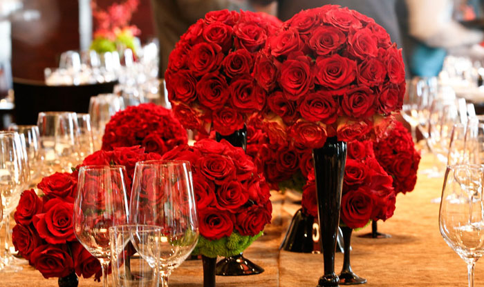 Lovely Grouping Of Rose Centerpieces B Events