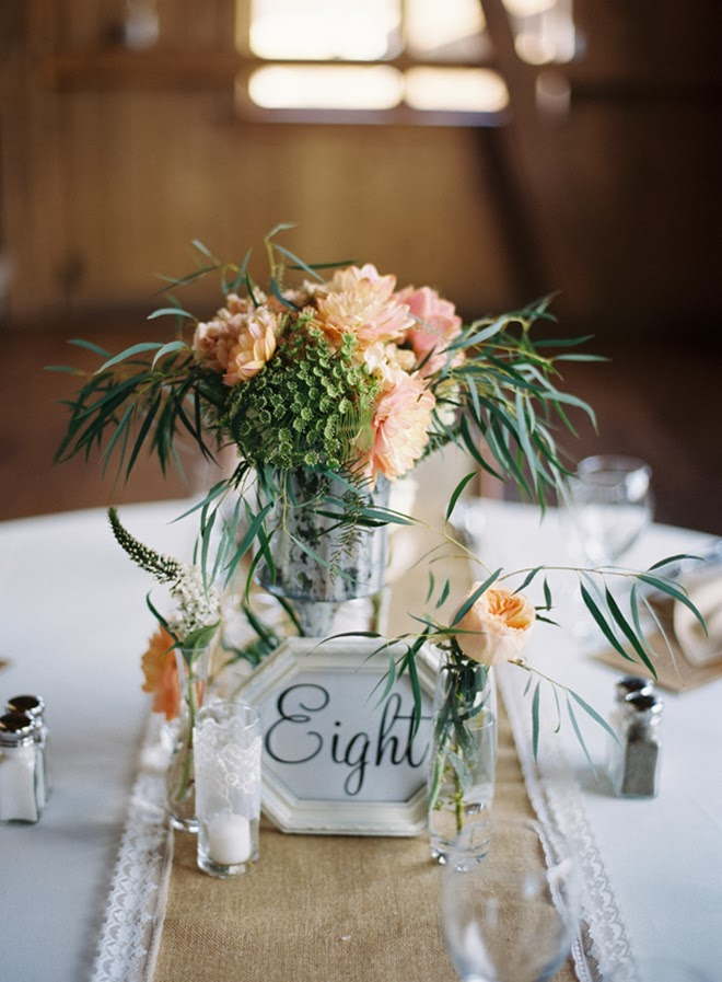 Rustic Peach Centerpiece