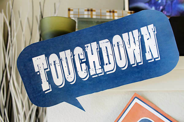 Touchdown football party printables