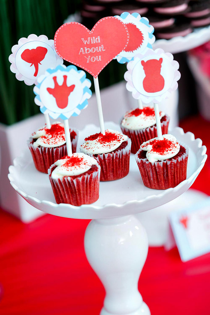 Wild About You Valentine Cupcakes - B. Lovely Events
