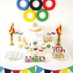 olympics party dessert table