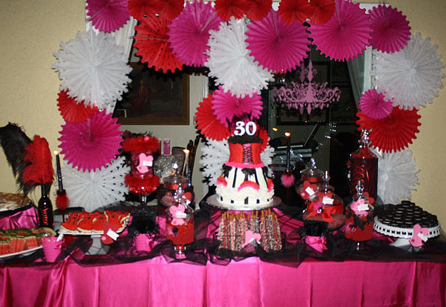 30 burlesque party table- B. Lovely Events