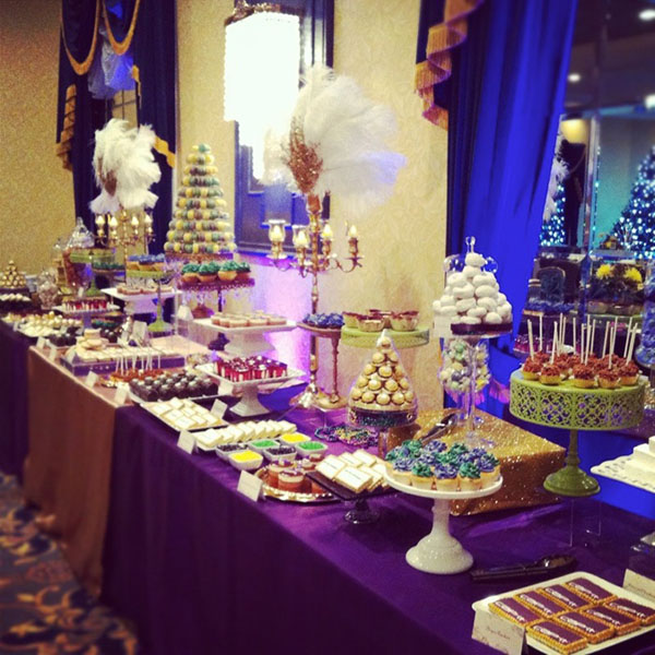 Amazing Mardi Gras Dessert Table