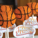 Basketball Cake pops for March Madness!