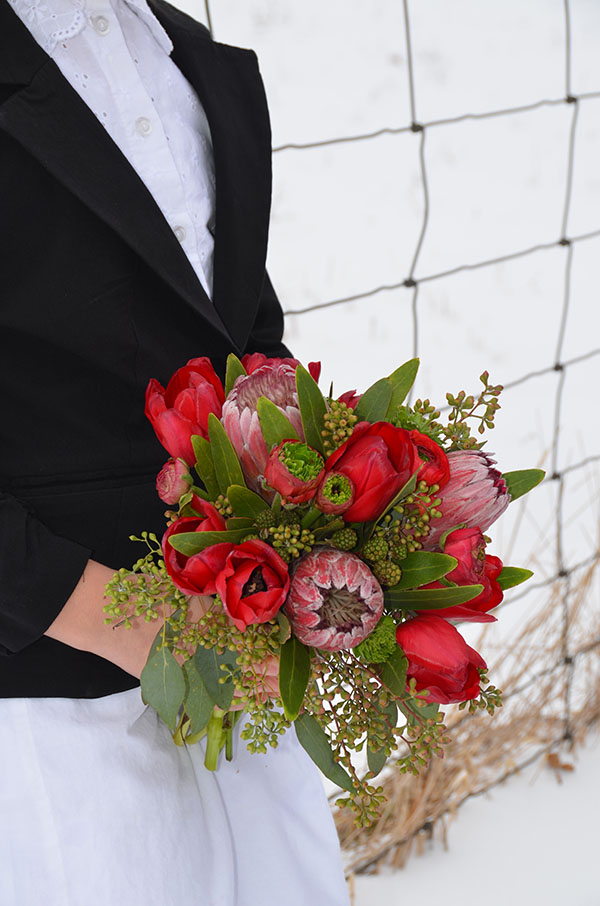 Beautiful Winter Wedding Bouquet- B. Lovely Events