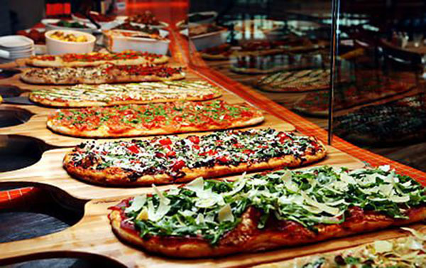 Gourmet pizza bars b lovely events for Food bar nyc