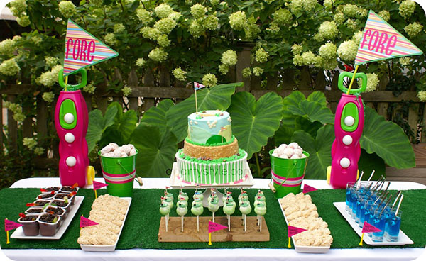 Golf Party dessert bar #golf #party
