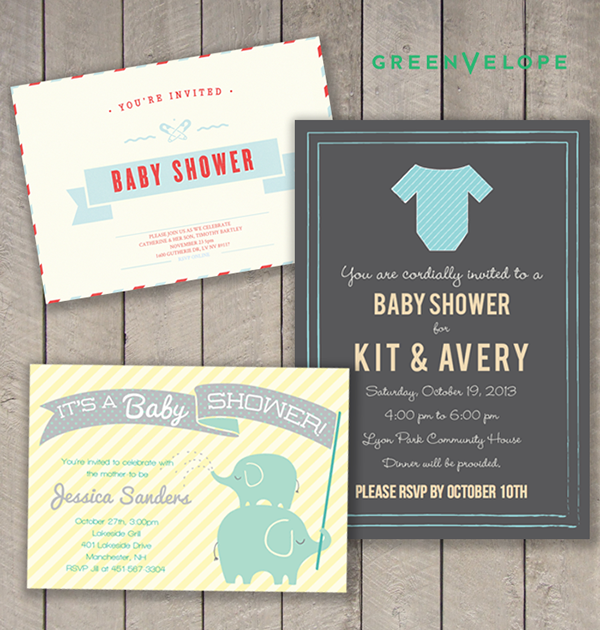 Get Free Baby Shower invites with our giveaway from Greenvelope