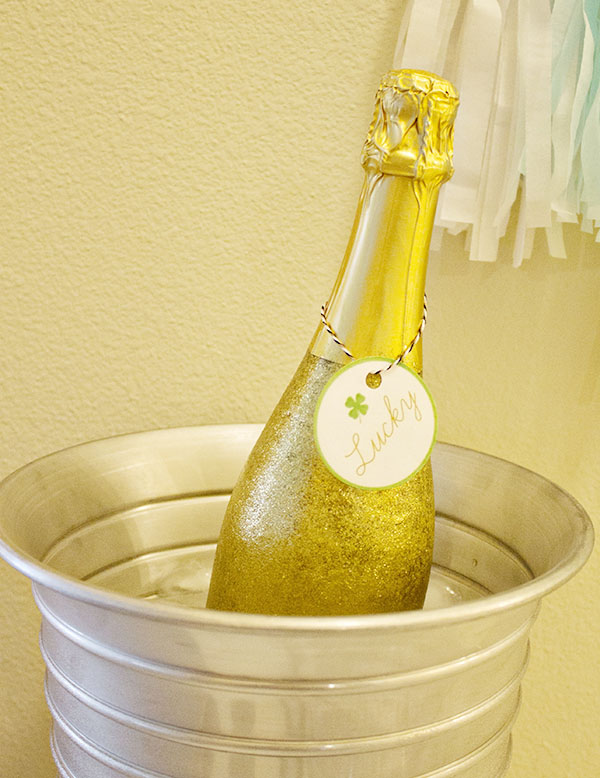 Gold Glitter Champagne For A Lucky In Love Engagement Party! B. Lovely Events