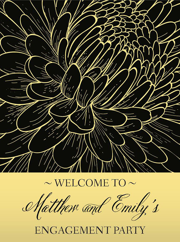 Love In Bloom Engagement Welcome Sign