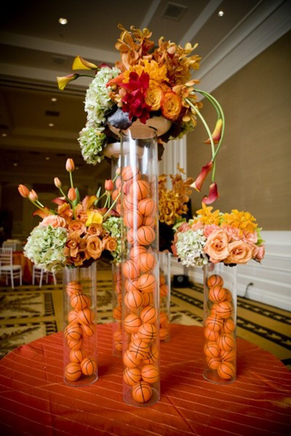Lovely Basketball Centerpieces! - B. Lovely Events