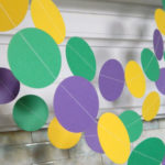 Love this Mardi gras garland