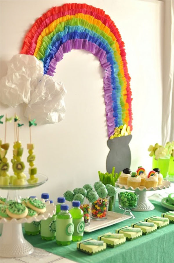 Love this rainbow and pot of gold decoration