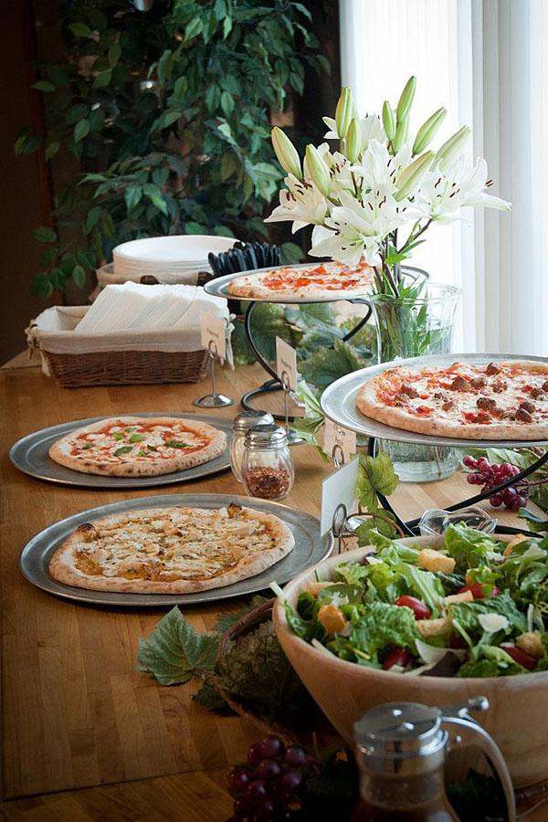 Lovely Pizza Buffet Setup!