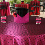 Lovely burlesque party tables for the 30th birthday party