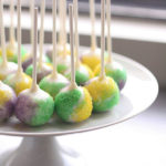 Lovely mardi gras cake ball