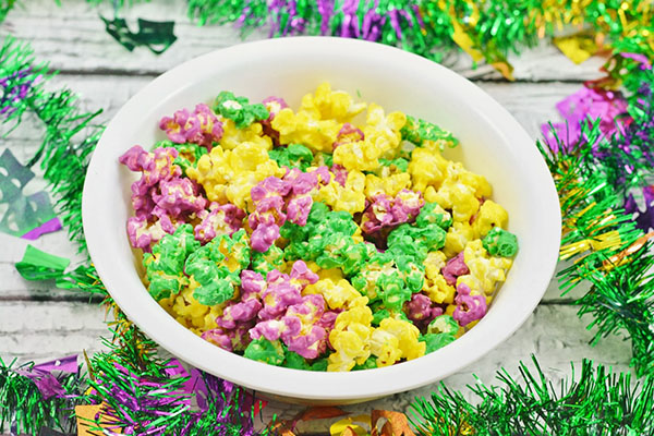 Mardi Gras popcorn!