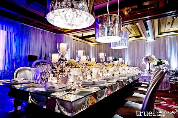 Modern Silver Tablescape