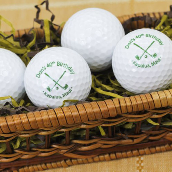 Personalized Golf Balls for your party! Amazing