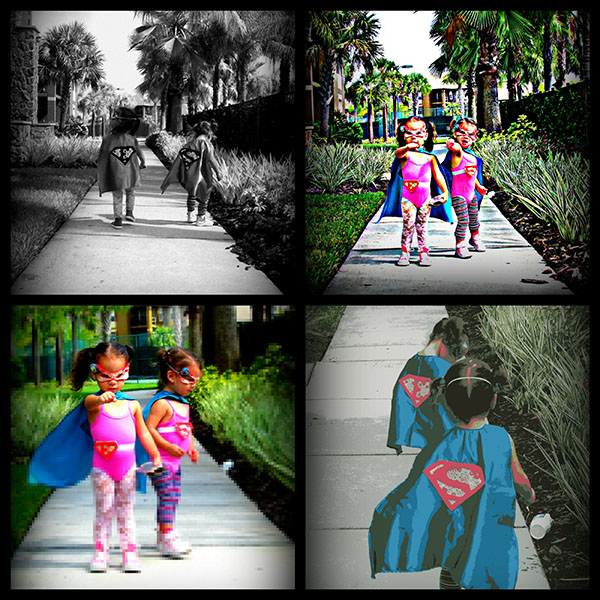 Such a cute cape for a girls super hero party- B. Lovely Events