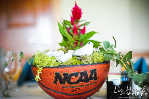 This basketball centerpieces is so adorable!