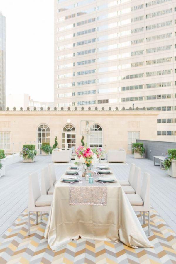 Urban Wedding Tablescape- Love this! #wedding #Outdoor #Urban