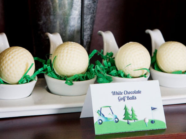 White Chocolate Golf Balls Are So Cute At This Golf Party