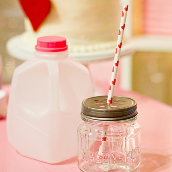 party drink mason jars and milk jugs!