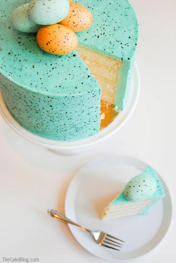 Amazing Speckled Robins Egg Cake!