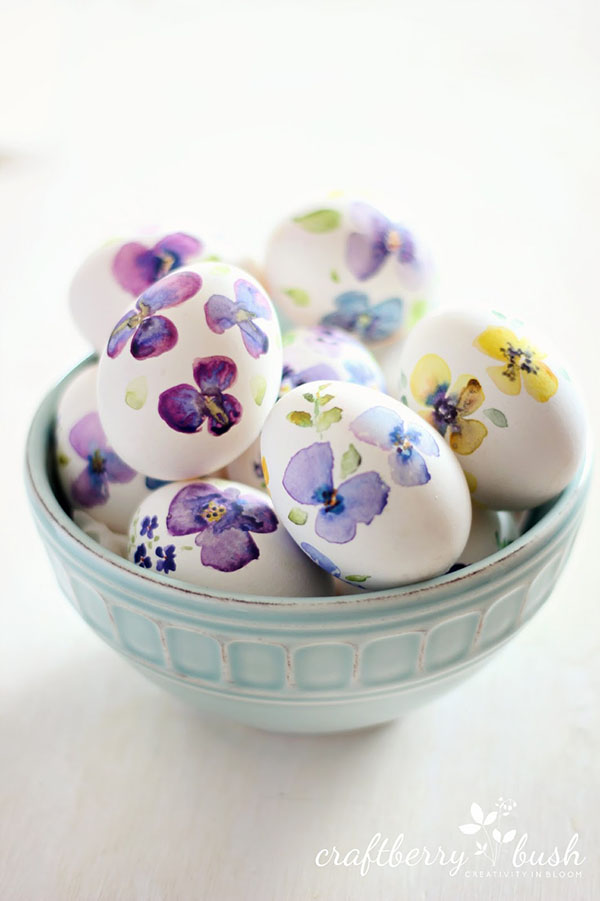 Amazing Watercolor easter Eggs