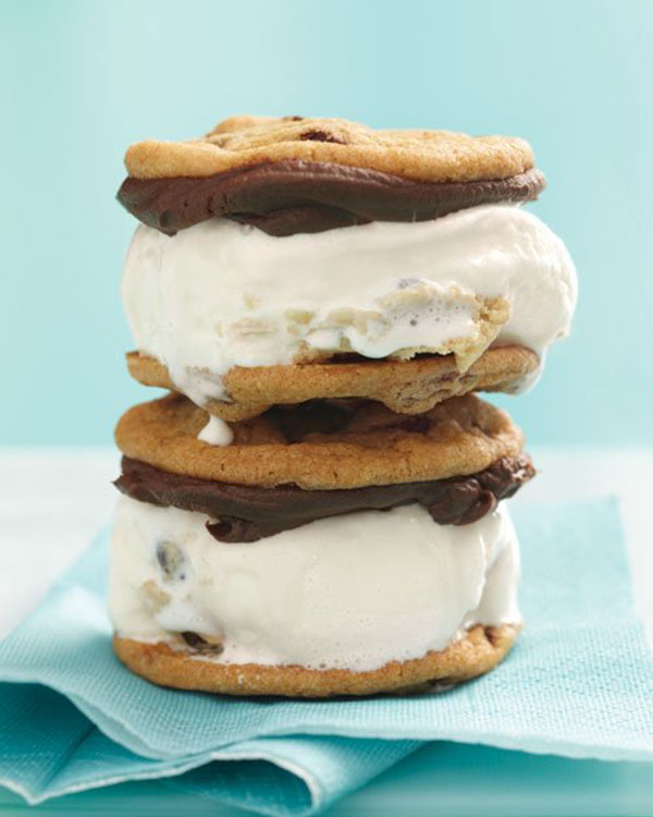 Big Chocolate Chip Ice Cream Sandwiches