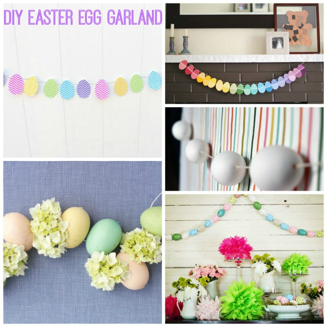 DIY Easter Egg Garland Ideas! -B. Lovely Events #Easter #Decorations #DIY