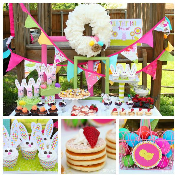 Easter brunch tables b lovely events Fun easter brunch ideas