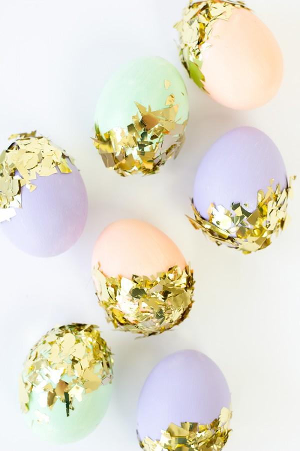 Gold Confetti Eggs!
