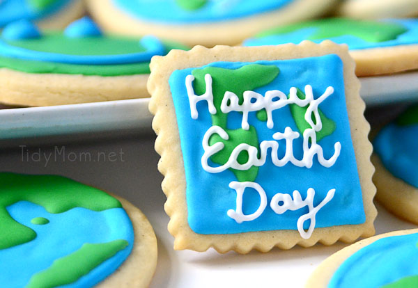 Happy Earth day Cookies- so cute!