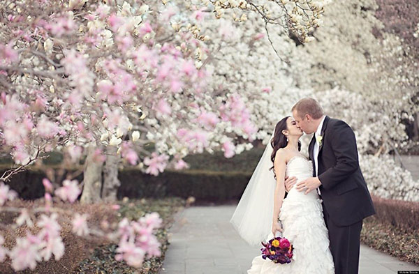 I love cherry blossoms at weddings!