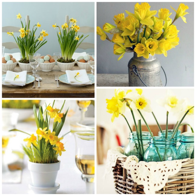 Lots Of Daffodil Centerpiece Ideas- B. Lovely Events #Easter #Spring #Centerpieces