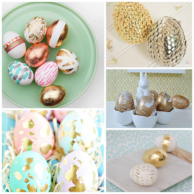 Super Chic Gold Easter Egg Ideas!