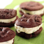 Mini brownie ice cream cookie sandwiches
