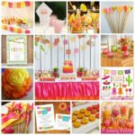 Orange Pink And Yellow Fiesta Inspiration board!