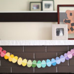 Paint Chip Egg Garland!