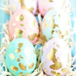 Pastel and golf leaf easter eggs!