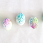 Sprayed Watercolor eggs!